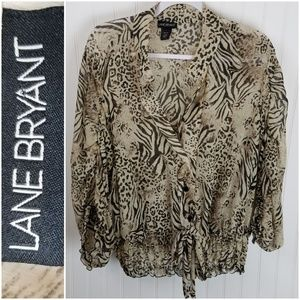 Lane Bryant Animal Print Shear Blouse Size 18/20